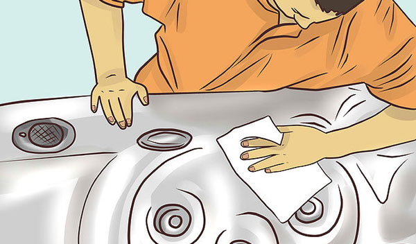How to clean a hot spa tub