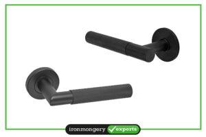 black door handle
